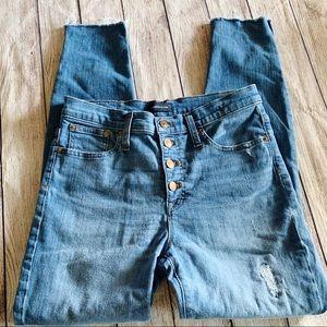 "J.Crew 9"" High Rise ToothPick Skinny Jeans - 0168"